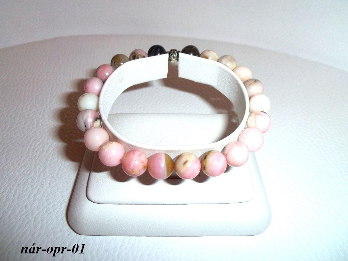 ddb3cc051 ružový andský opál náramok, opálový náramok z andského ružového opálu
